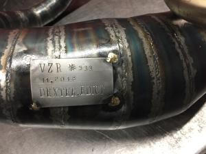 Marmitta serie dexter edit per 130 cc cilindri girati alluminio